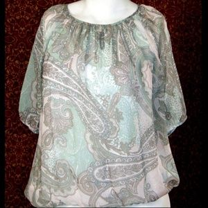 CHICO's green paisley tunic blouse 2
